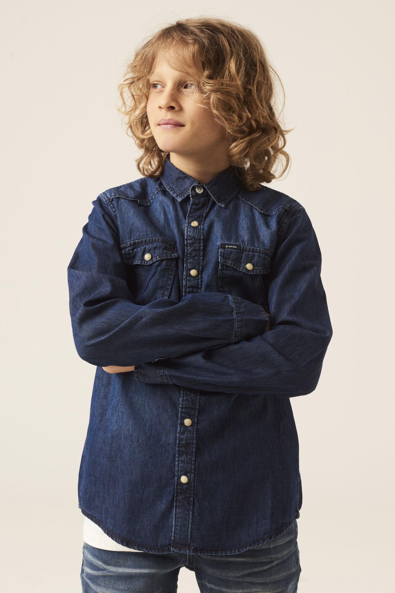 Garcia guttekl챈r, ungdomskl챈r, bl책 skjorte